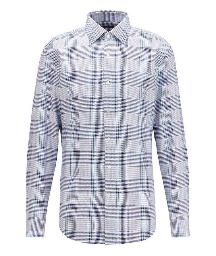 Slim Fit Glen Check Cotton Shirt image 0