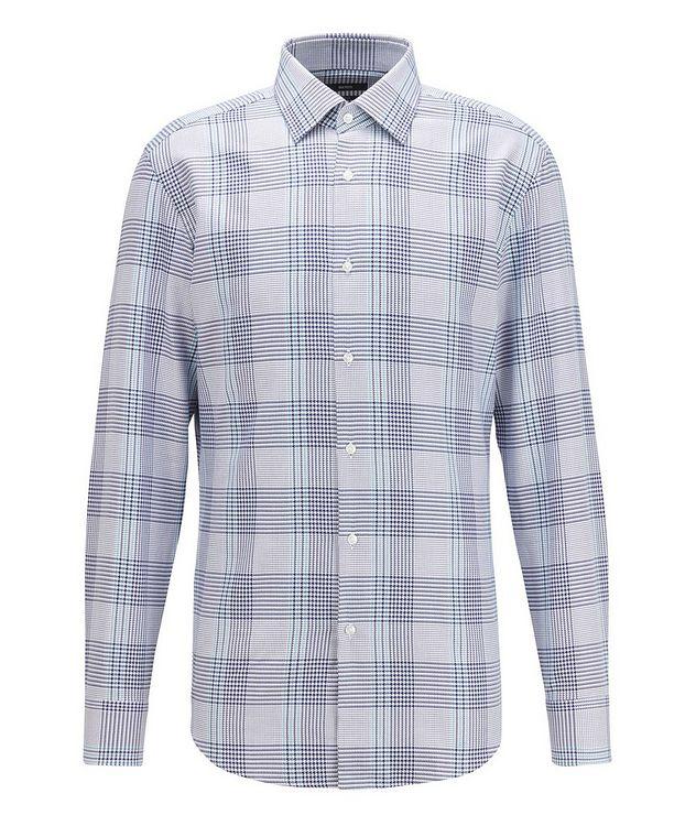 Slim Fit Glen Check Cotton Shirt picture 1