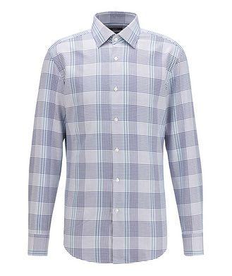 BOSS Slim Fit Glen Check Cotton Shirt