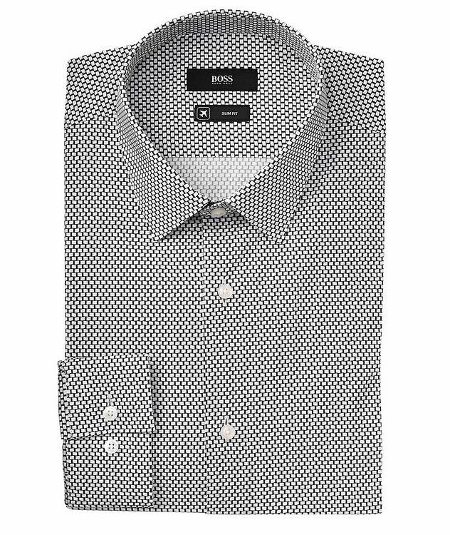 Isko Slim-Fit Stretch-Cotton Travel Dress Shirt picture 1