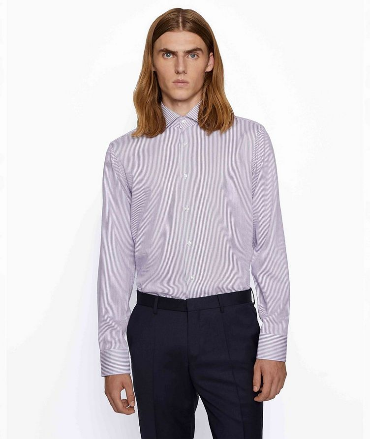 Thermo-Regulating Striped Dress Shirt image 2