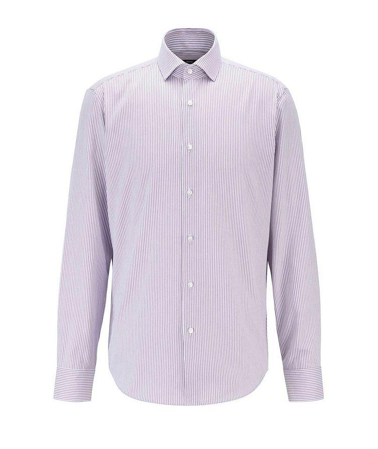 Thermo-Regulating Striped Dress Shirt image 0