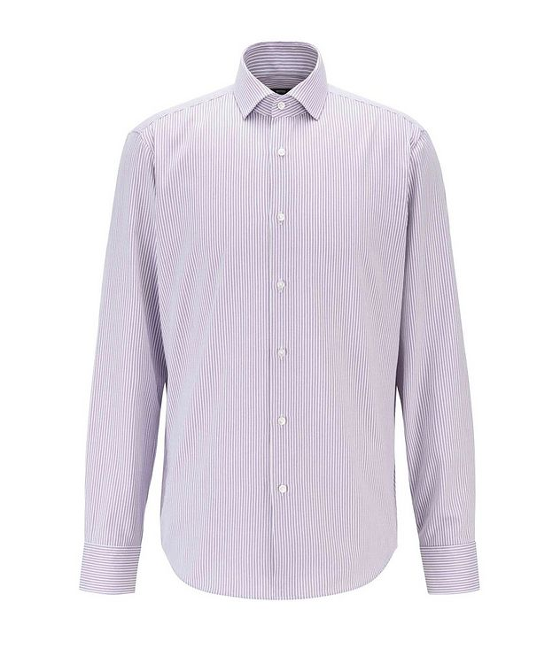 Thermo-Regulating Striped Dress Shirt picture 1