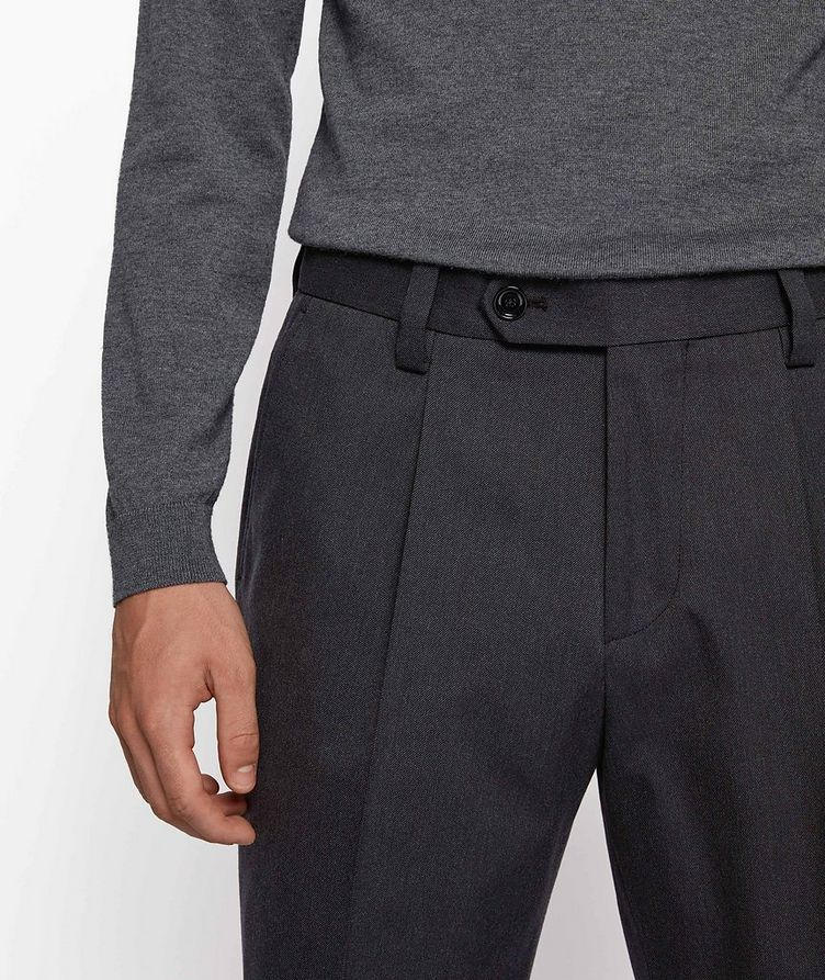 Oversized Cotton-Wool Trousers image 3