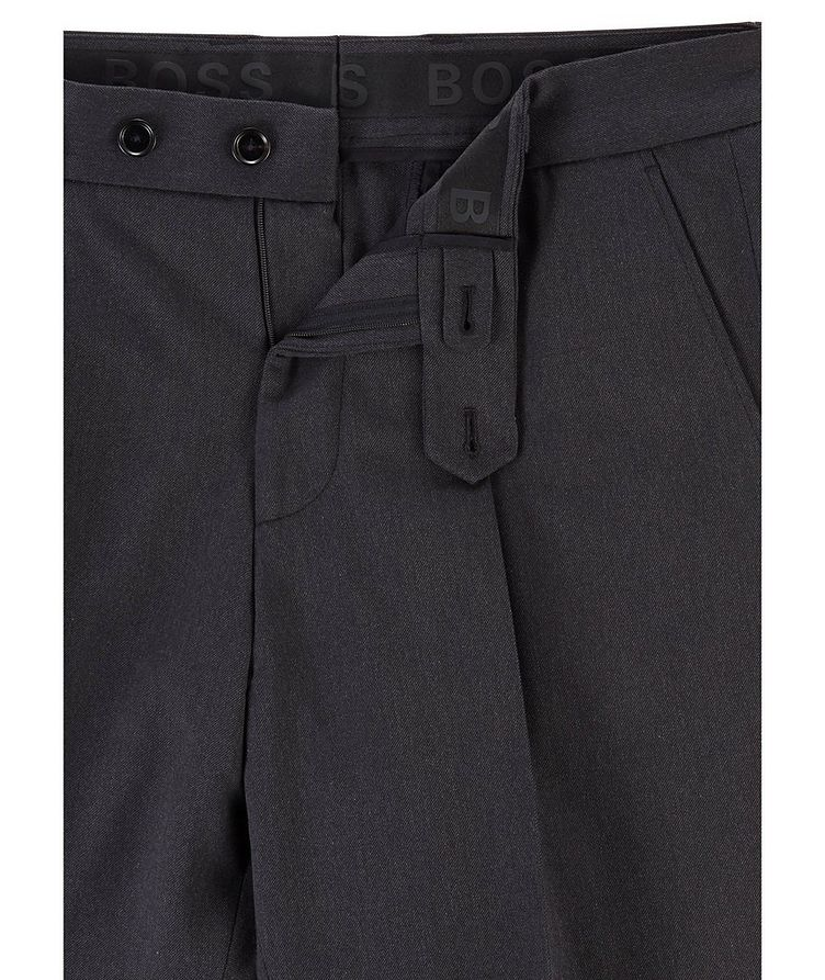 Oversized Cotton-Wool Trousers image 4
