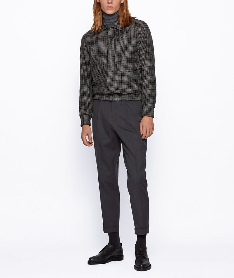 Oversized Cotton-Wool Trousers image 5