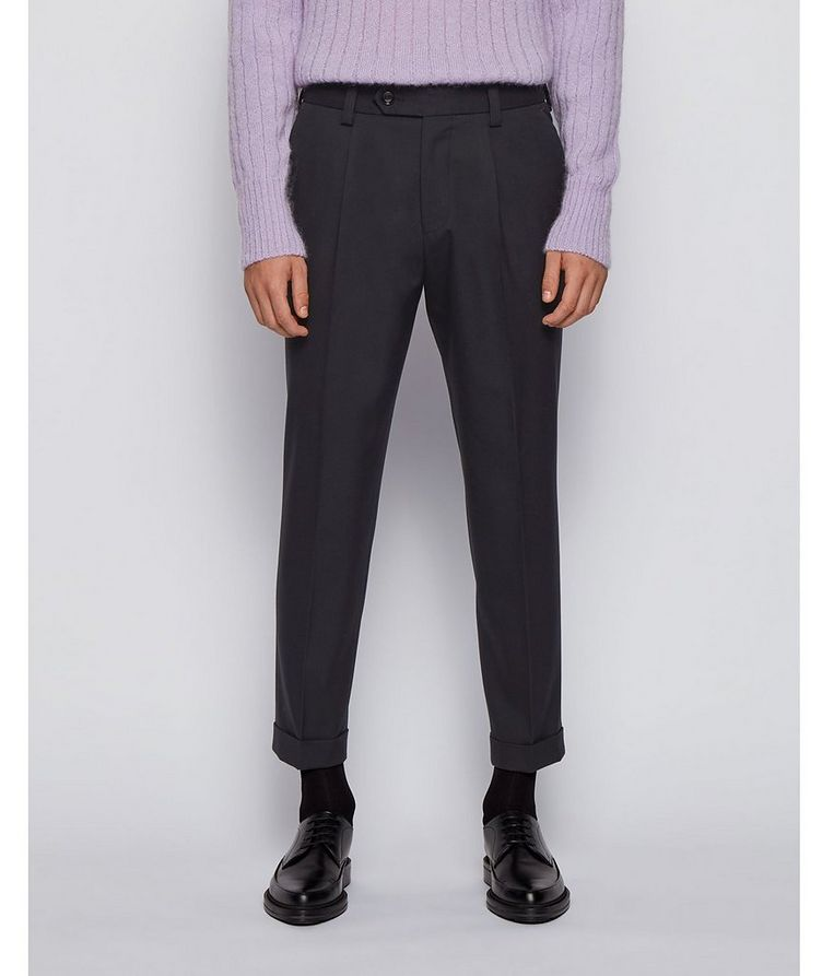 Oversized Cotton-Wool Trousers image 1