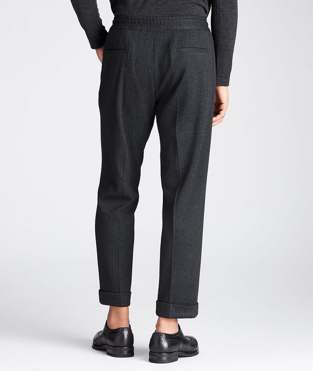 Slim Fit Cashmere-Cotton Trousers picture 2