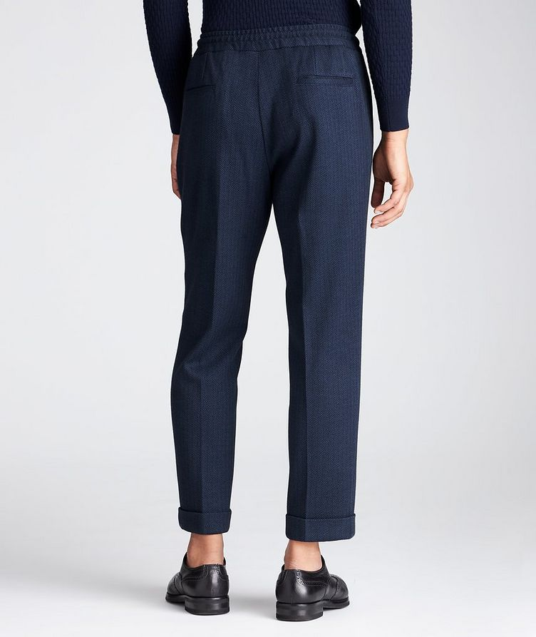 Slim Fit Cashmere-Cotton Trousers image 1