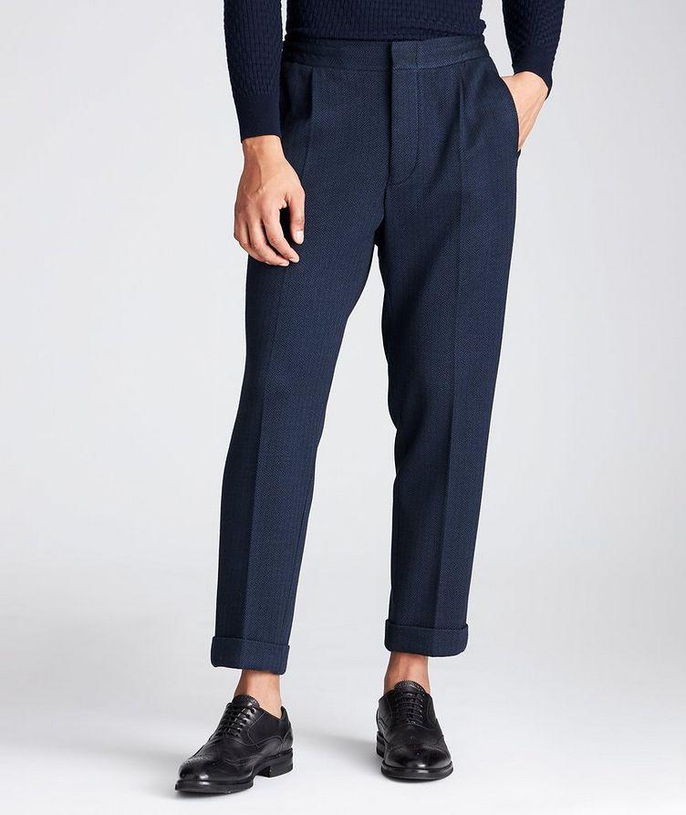 Slim Fit Cashmere-Cotton Trousers image 0