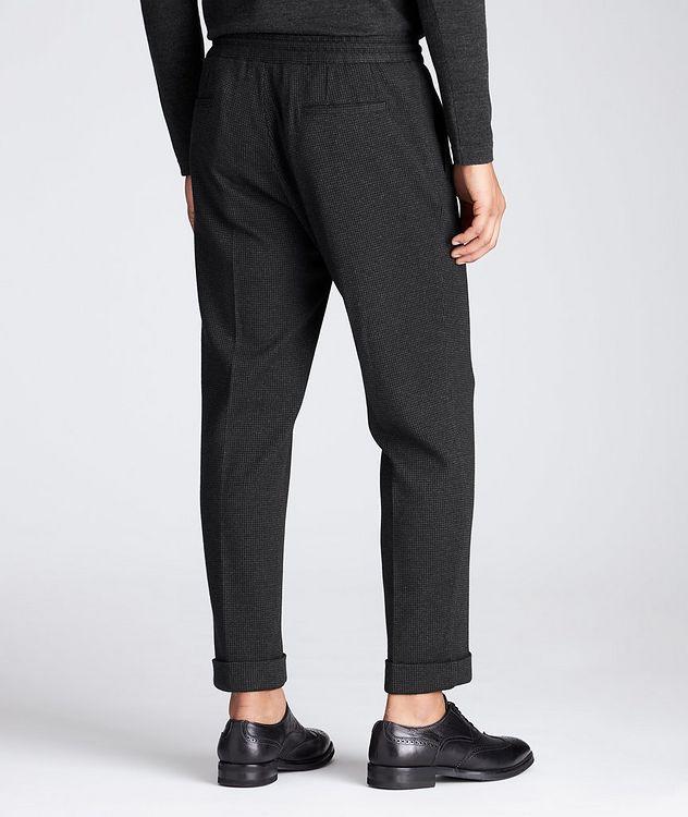 Slim Fit Cashmere-Cotton Trousers picture 2