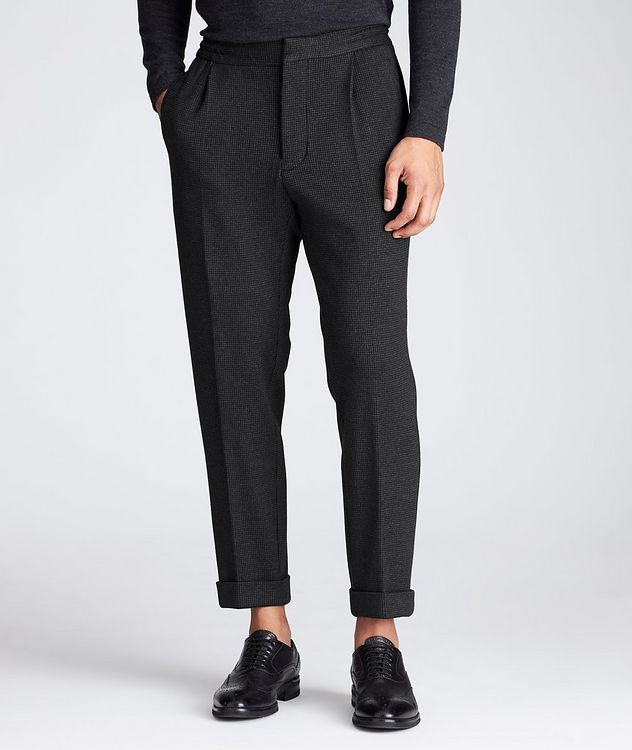 Slim Fit Cashmere-Cotton Trousers picture 1