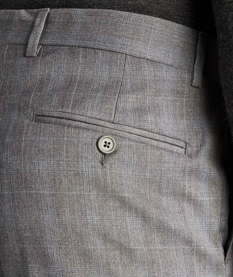 Checked Wool Dress Pants image 2