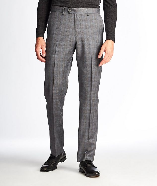 Checked Wool Dress Pants picture 1