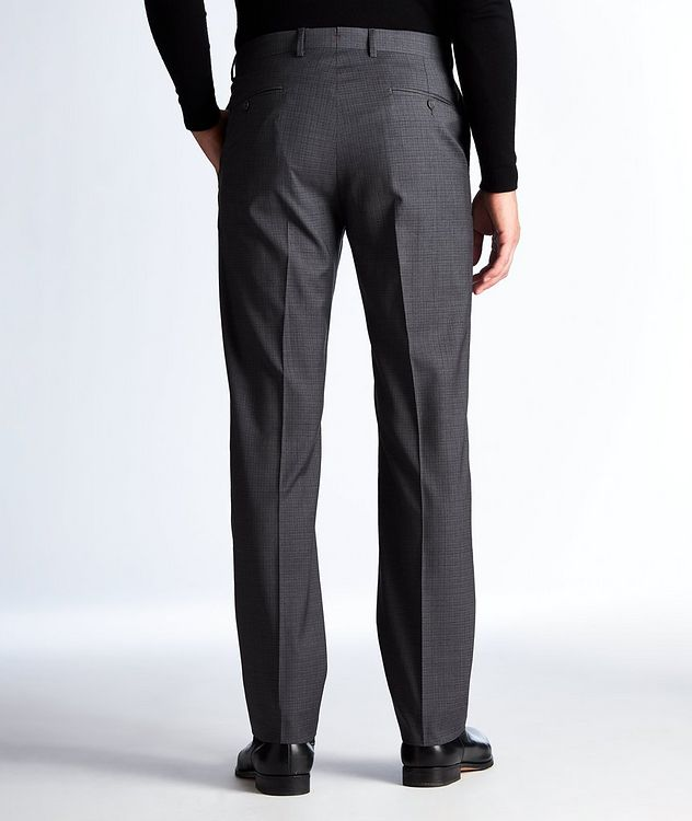 Miniature-Grid Wool Dress Pants picture 2