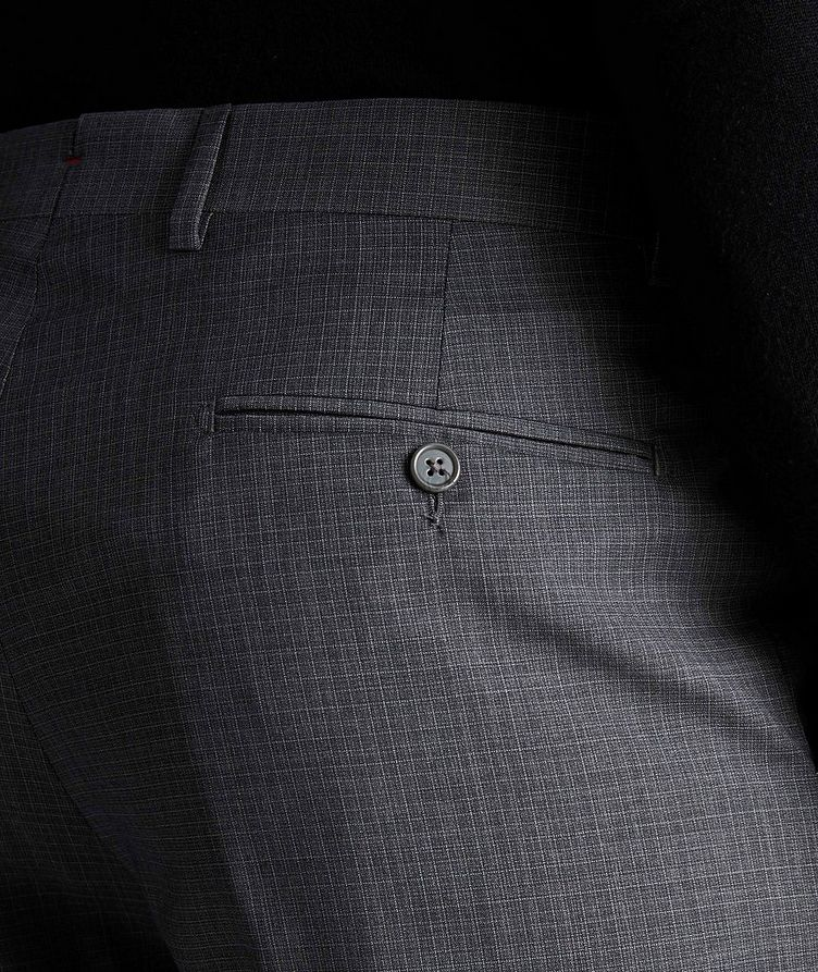 Miniature-Grid Wool Dress Pants image 2