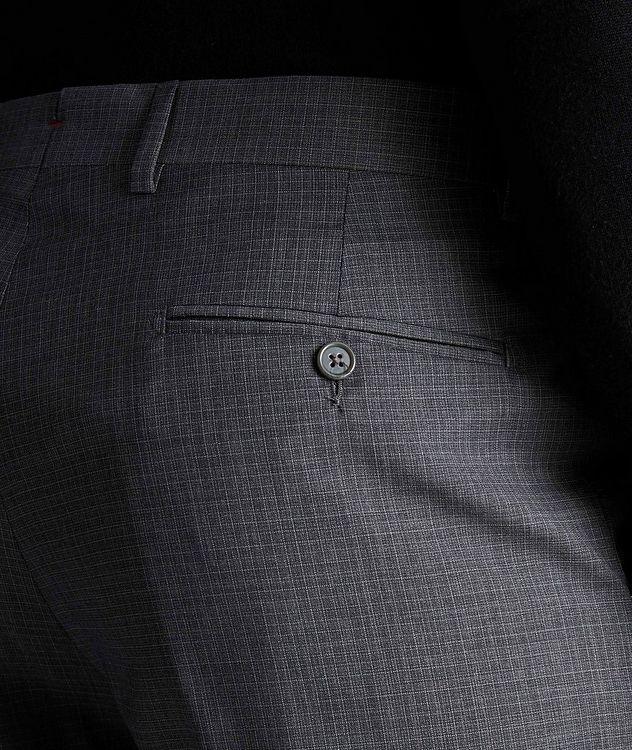 Miniature-Grid Wool Dress Pants picture 3