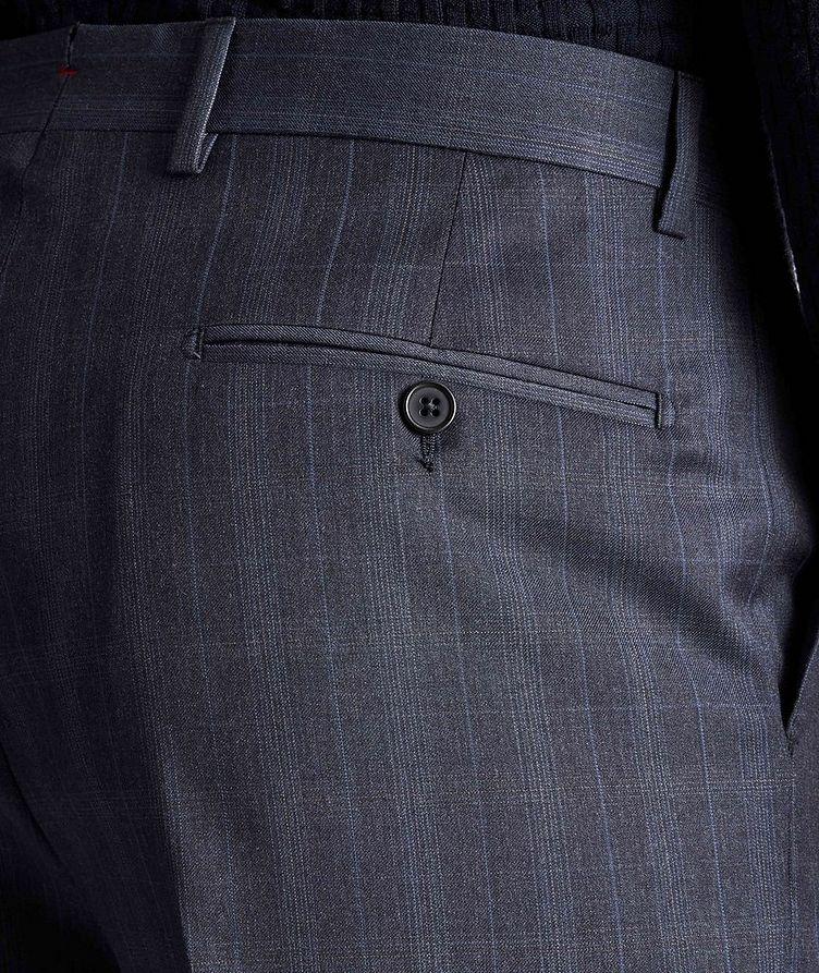 Pantalon habillé en laine à motif quadrillé image 2