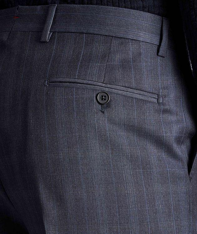 Pantalon habillé en laine à motif quadrillé picture 3