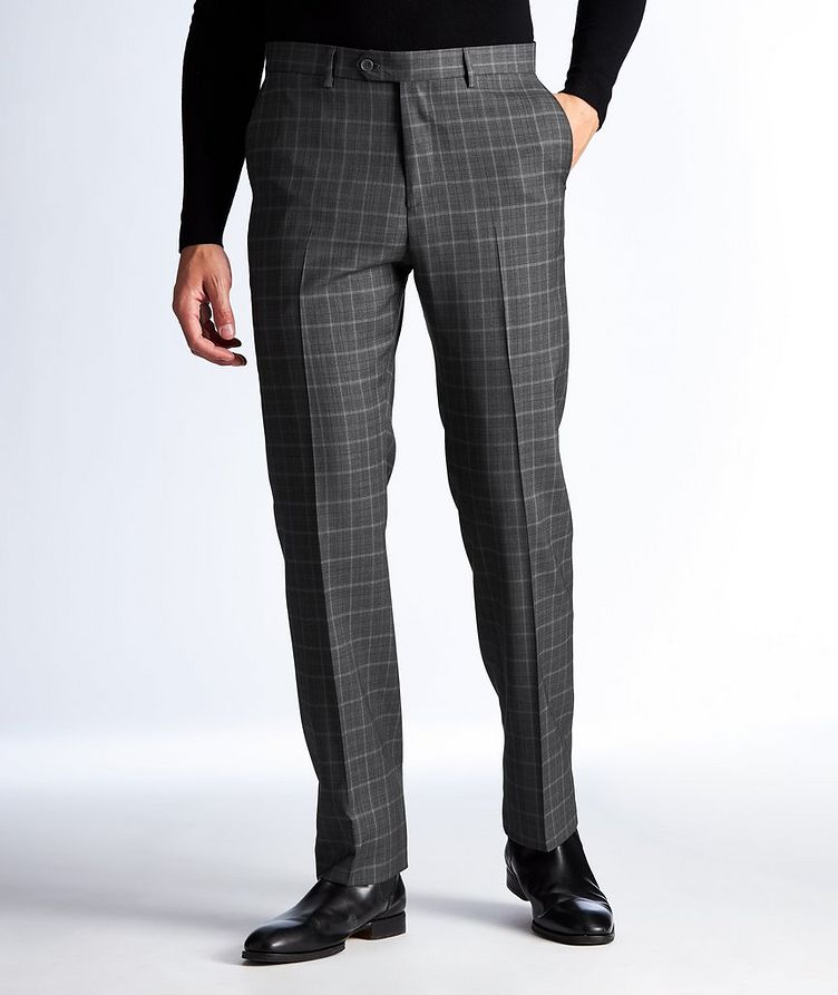 Plaid Wool Dress Pants image 0