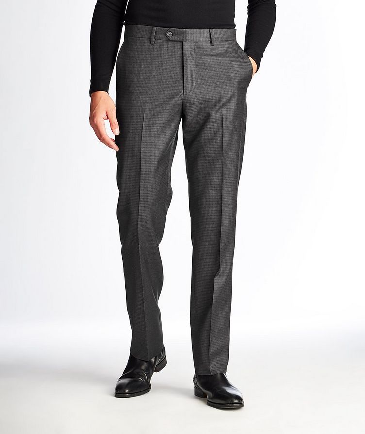 Checked Wool Dress Pants image 0