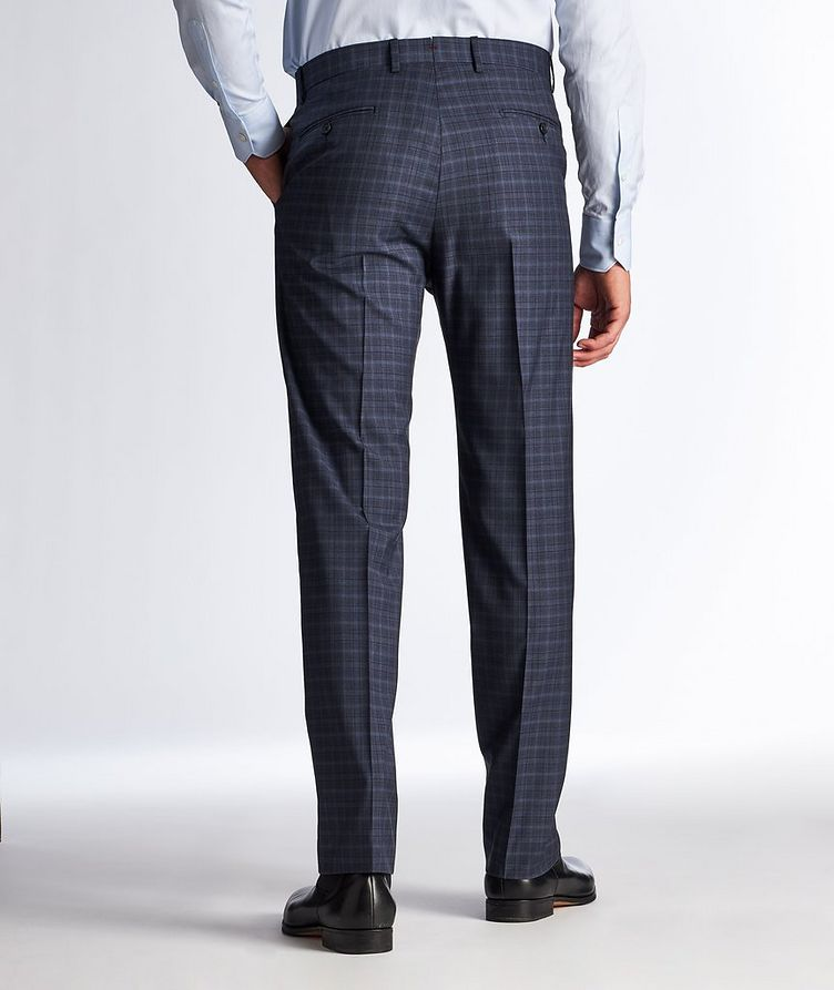Pantalon habillé en laine à motif quadrillé image 1