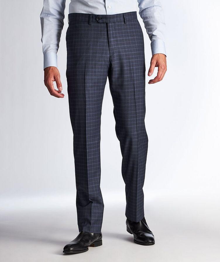Pantalon habillé en laine à motif quadrillé image 0