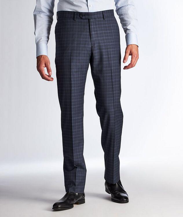 Pantalon habillé en laine à motif quadrillé picture 1