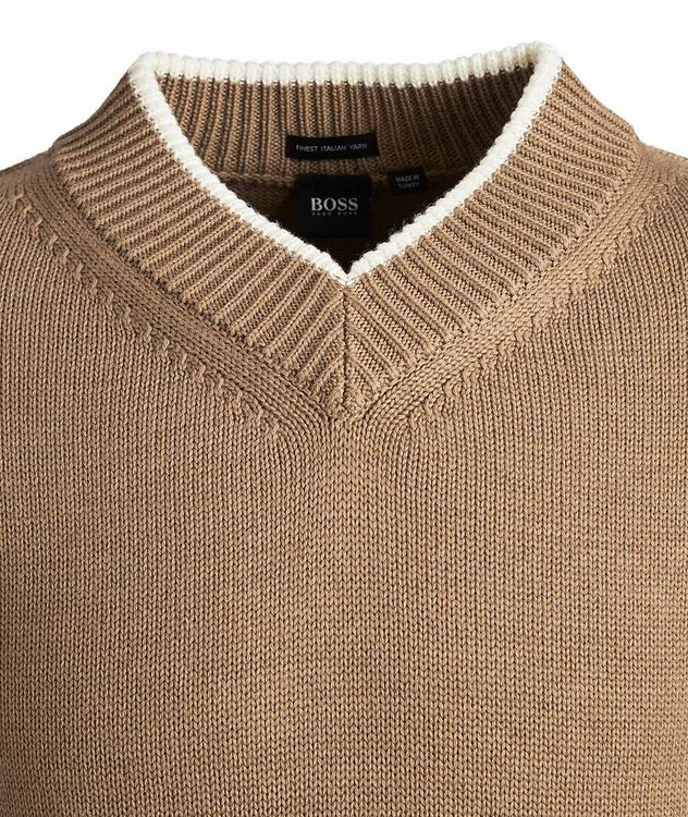 V-Neck Wool Knit Sweater picture 2