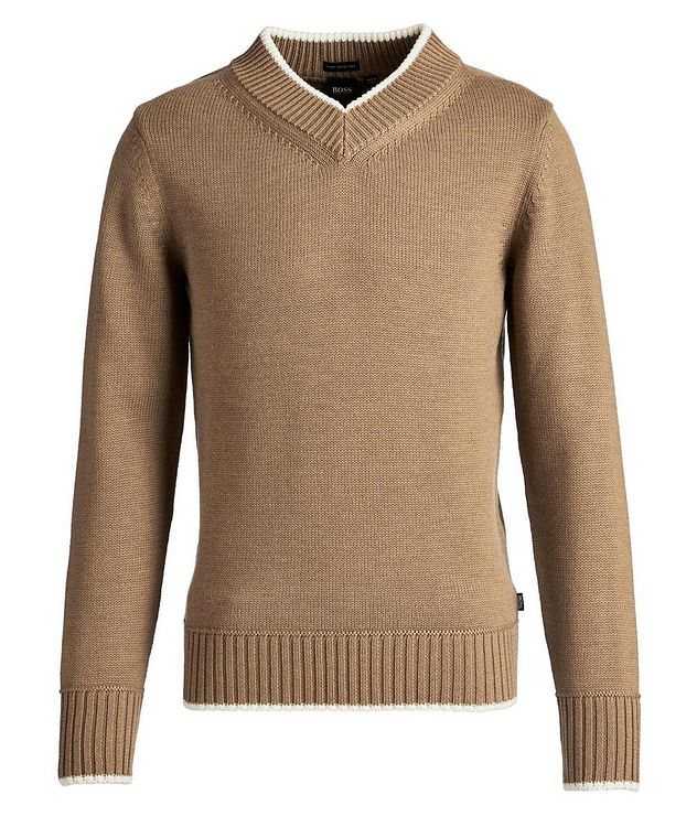 V-Neck Wool Knit Sweater picture 1