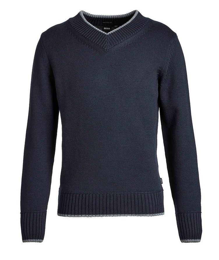 V-Neck Wool Knit Sweater image 0