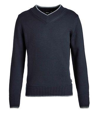 BOSS V-Neck Wool Knit Sweater