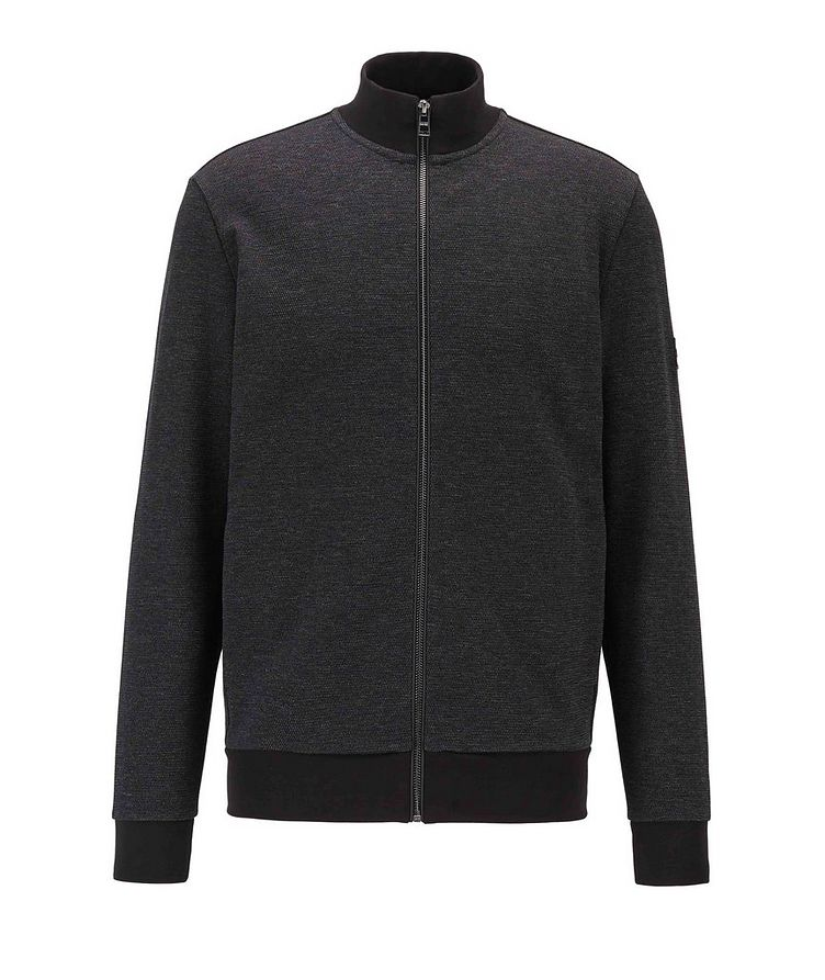 Zip-Up Cotton Sweatshirt image 0