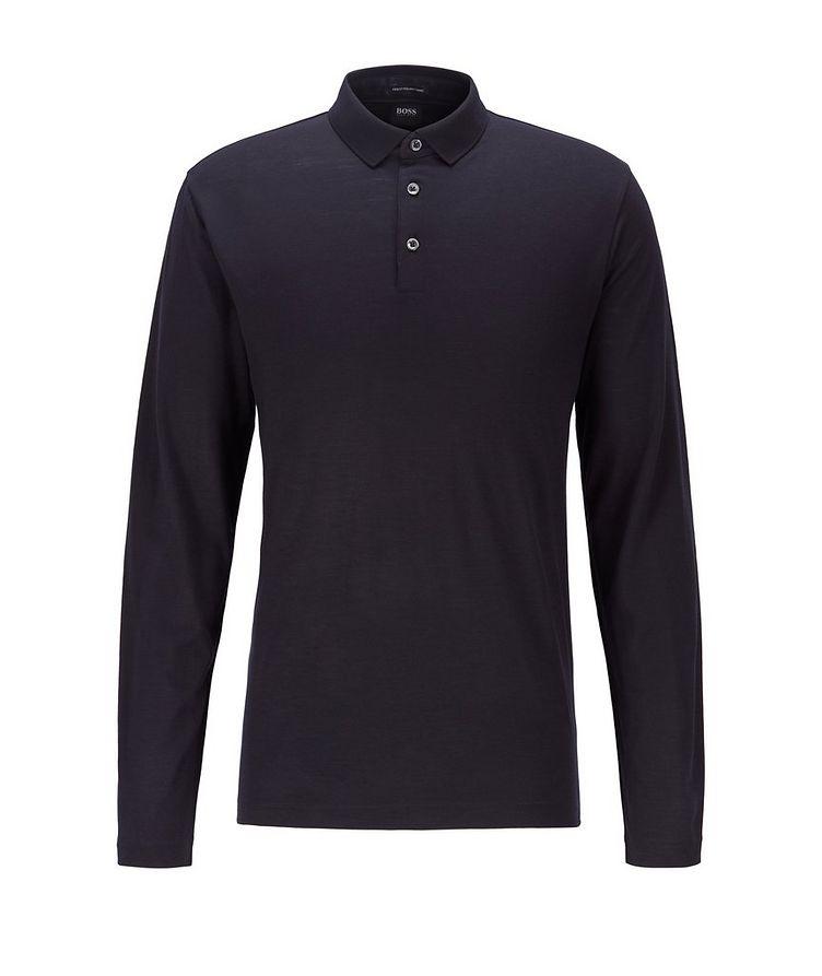 Long-Sleeve Traceable Wool Polo image 0