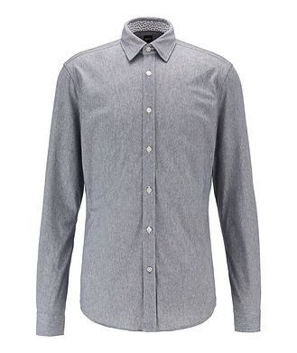 BOSS Contemporary Fit Stretch Printed Shirt