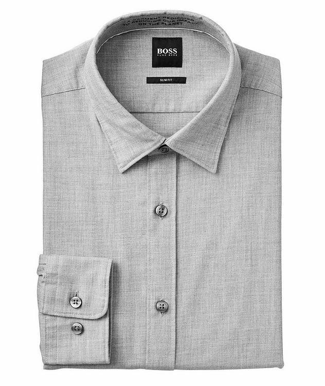 Giamma Slim-Fit Organic Cotton-Blend Shirt picture 1