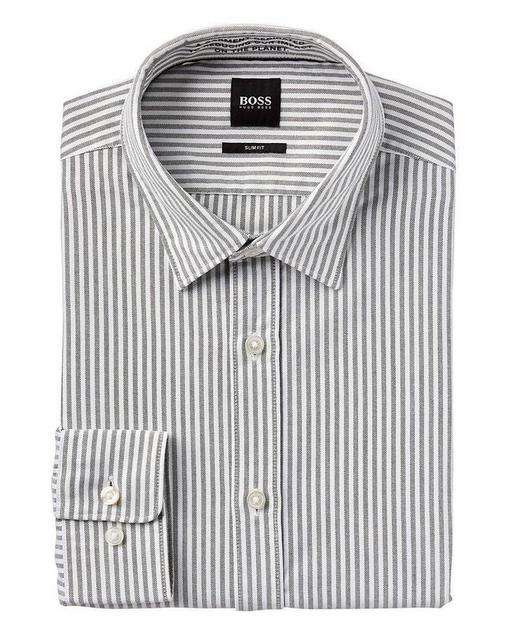 Giamma Slim-Fit Striped Organic Cotton-Blend Shirt image 0