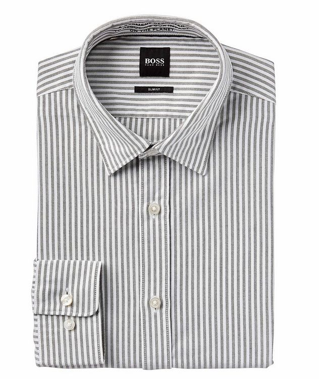Giamma Slim-Fit Striped Organic Cotton-Blend Shirt picture 1