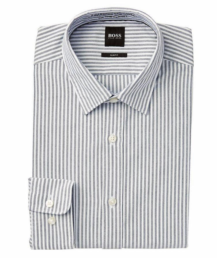 Giamma Slim-Fit Striped Organic Cotton-Blend Shirt image 0