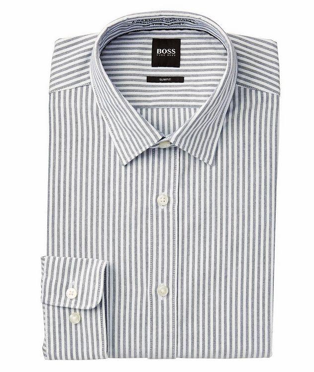 Giamma Slim-Fit Striped Organic Cotton-Blend Shirt picture 1