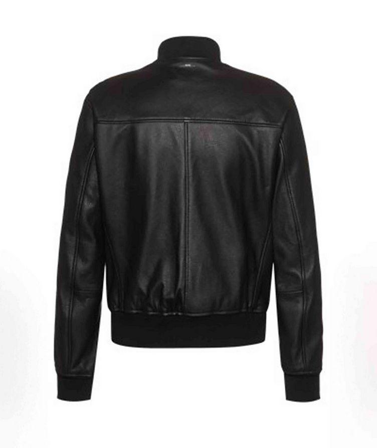 Neovel Lambskin-Leather Bomber Jacket image 1