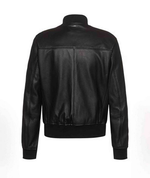 Neovel Lambskin-Leather Bomber Jacket picture 2