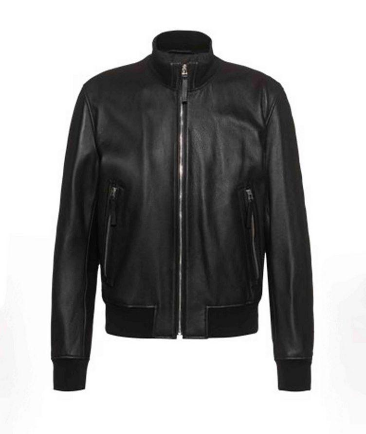 Neovel Lambskin-Leather Bomber Jacket image 0