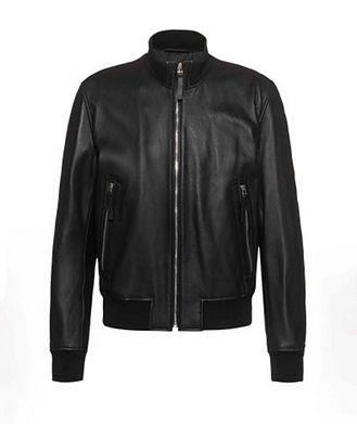 BOSS Neovel Lambskin-Leather Bomber Jacket