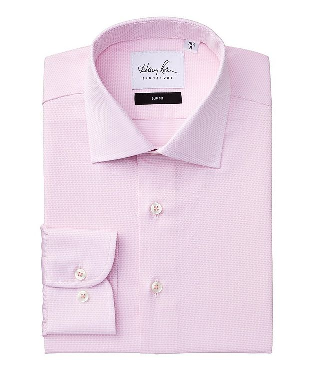 Slim Fit Neat-Printed Cotton Dress Shirt picture 1