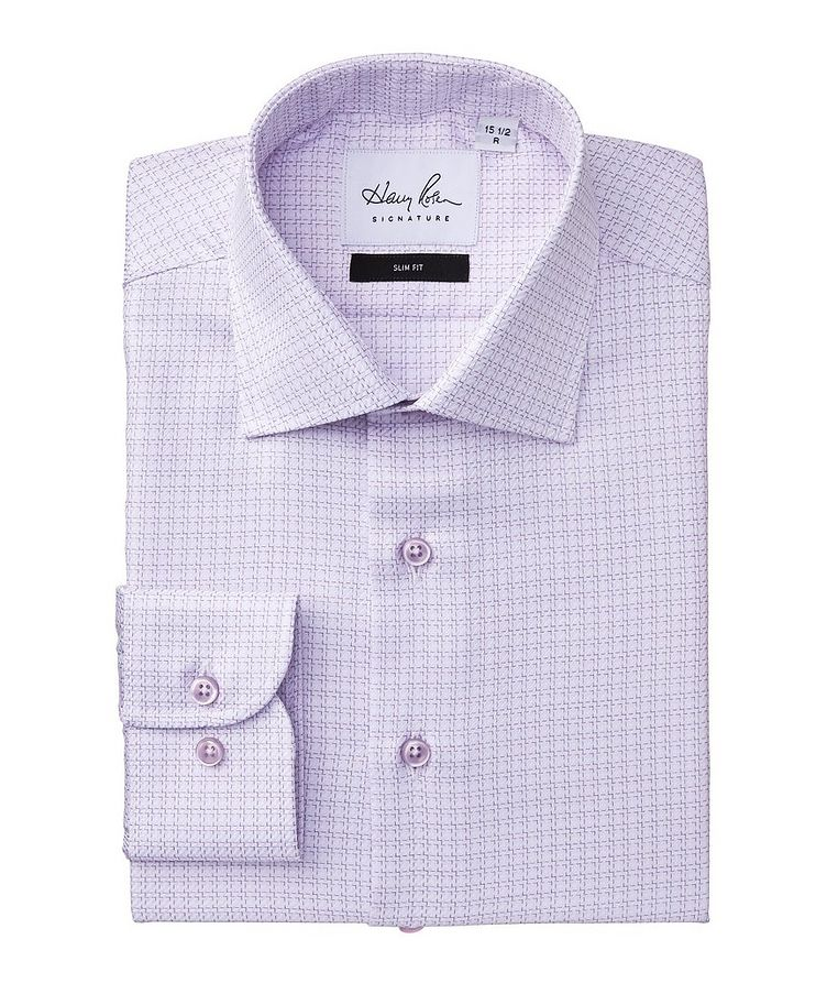 Slim Fit Checked Cotton Dress Shirt image 0
