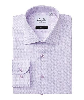 Harry Rosen Signature Slim Fit Checked Cotton Dress Shirt