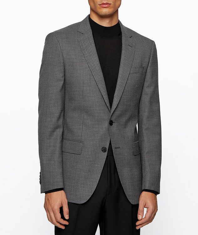 Huge6 Slim-Fit Checked Sports Jacket picture 3