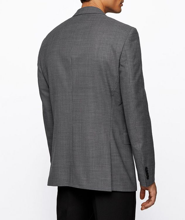 Huge6 Slim-Fit Checked Sports Jacket picture 4