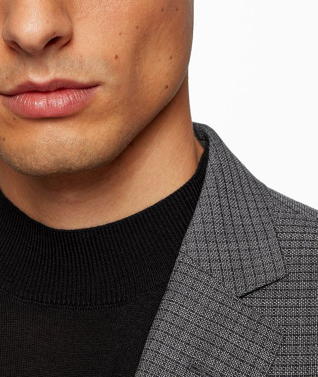 Huge6 Slim-Fit Checked Sports Jacket picture 5